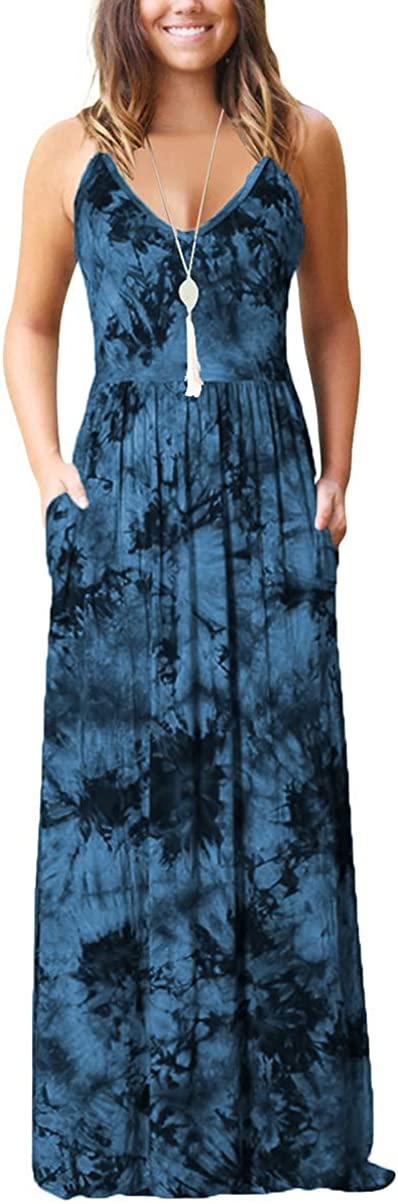Women's Summer Casual Loose Maxi Stra Spaghetti Dress Adjustable Popular products Super special price