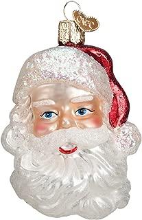 Old World Christmas Assortment Glass Blown Ornaments for Christmas Tree Mid-Century Santa Head