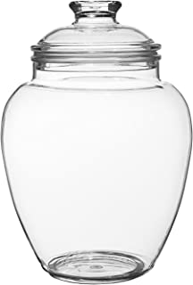 Modern Innovations 80-Ounce Candy Jar with Lid, Premium Acrylic Clear Apothecary Jar, Wedding & Home Décor Centerpiece Candy Buffet Decorative Kitchen Storage Jar