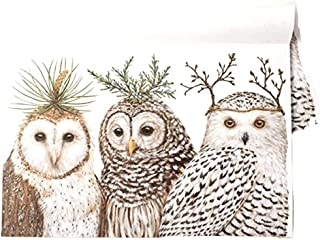Kitchen Papers Winter Owls Paper Placemat Set