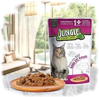 Jungle Pouch Biftekli Jelli Kısırlaştırılmış Kedi Yaş Maması 100 Gr