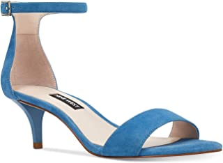 NINE WEST Womens Leisa Open Toe Special Occasion Ankle Strap, Blue, Size 5.5