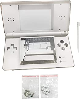 lenboes Replacement Full Housing Shell Case Kit Repair Parts for Nintendo DS Lite NDSL - White