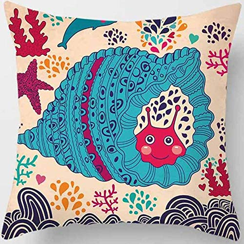 None brand Muchos Colores mar paisajes Funda de Almohada Hombres Mujeres niñas señoras Fundas de Almohada Cuadrada Funda de Almohada de Alta definición 45 * 45 cm-04
