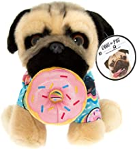 Claire's Doug The Pug Girl's Doug The Pug Donut Medium Plush Toy - Cream