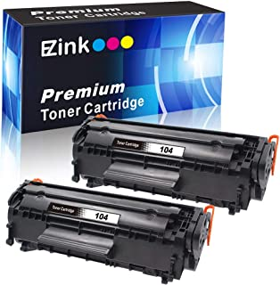 E-Z Ink (TM) Compatible Toner Cartridge Replacement for Canon 104 CRG-104 FX-10 FX-9 to use with FAXPHONE L90 L120 ImageClass D420 D480 MF4350d MF4150 MF4270 MF4370 MF4690 Printer (Black, 2 Pack)