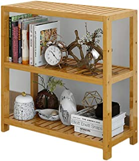 Estantería de bambú de 2 a 5 niveles, estantería de madera maciza Estantería de almacenamiento de estantería estrecha de varias capas Organizador para el hogar u oficina Cocina-G 70x29x70cm (28x11x28)