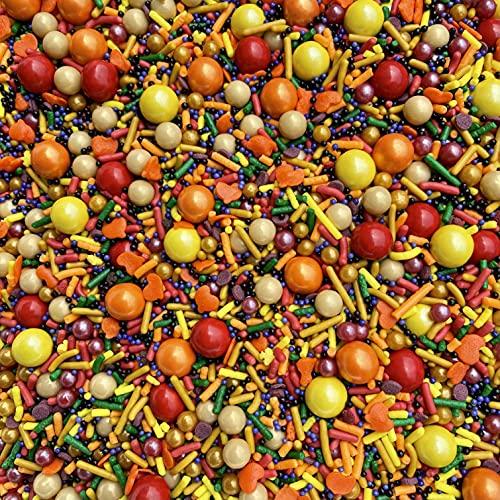 Sprinkles | Fall Sprinkles | 8 oz | Autumn sprinkles | Thanksgiving | Edible sprinkles | Baking sprinkles | Manvscakes