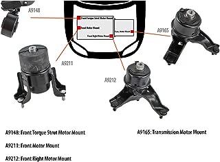 DNJ MMK1050 Complete Engine Motor & Transmission Mount Kit for 2002-2006 / Toyota/Camry / 2.4L / Auto Trans
