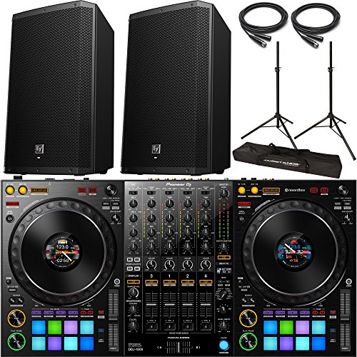 Find Bargain Pioneer DDJ-1000 rekordbox DJ Controller with 2x Electro Voice ZLX-12P Speaker and Acce...
