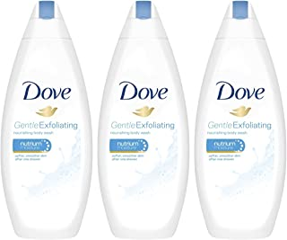 3 Pk. Dove Gentle Exfoliating Body Wash with Nutrium Moisture 16.9 Oz International Version
