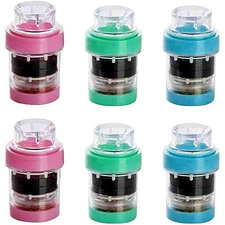 6PCS Rubinetto Acqua Carbone Attivo, Rubinetto della cucina del bagno Filtro della testa Risparmio d'acqua Accessori da cucina sani Filtro dell'acqua Adatto ai rubinetti standard