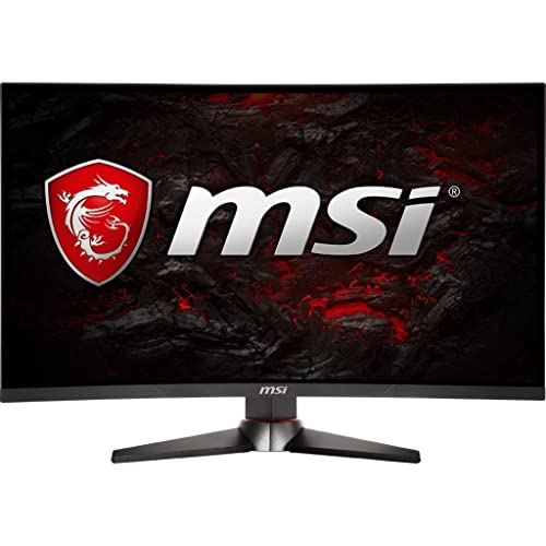 "MSI Full HD Gaming Red LED Non-Glare Super Narrow Bezel 1ms 1920 x 1080 144Hz Refresh Rate Adjustable Height Arm FreeSync 27"" Curved Gaming Monitor (Optix MAG27C)"