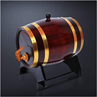 Tonneau à vin en Bois Tonneau à Whisky 3L, Tonneau à La Maison en Chêne pour Le Brassage et Le Stockage du Vin, Agave Fûts...