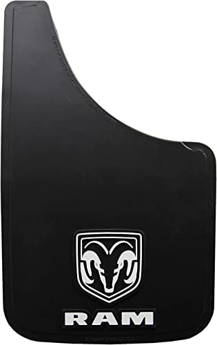 "Dodge Ram White Logo Easy Fit 15"" Mud Guard - Set of 2"