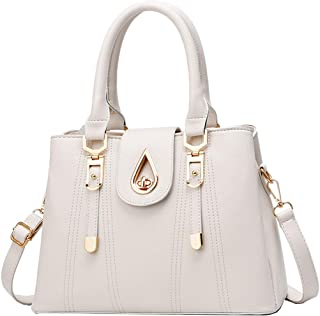 SDINAZ Damenhandtaschen Mode Schultertaschen Shopper Umhängetaschen Henkeltaschen DE99 Weiß