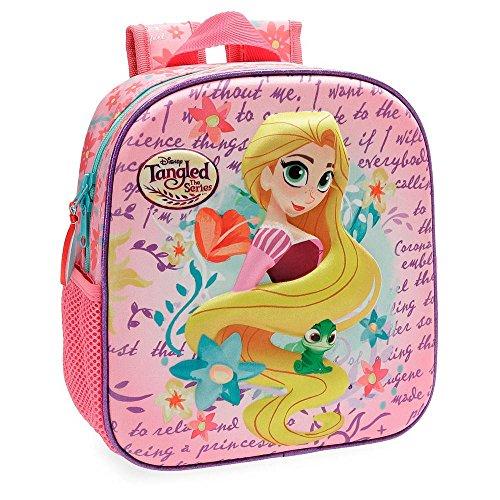 Disney Princesas Rapunzel Mochila Preescolar frontal 3D Multicolor 23x25x10 cms Poliéster 5.75L