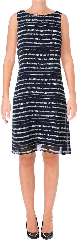 Lauren Ralph Lauren Womens Sleeveless Striped Cocktail Dress