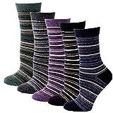 NTRH 5 pares de calcetines para mujer Calcetines cálidos de invierno Calcetines casuales...