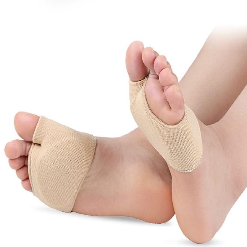 クローン統計的彼種子骨 保護 サポーター 足裏 パッド クッション 足底 痛み 外反母趾サポーターの支持者とクッションパッドセット 衝撃吸収 (Lサイズ)