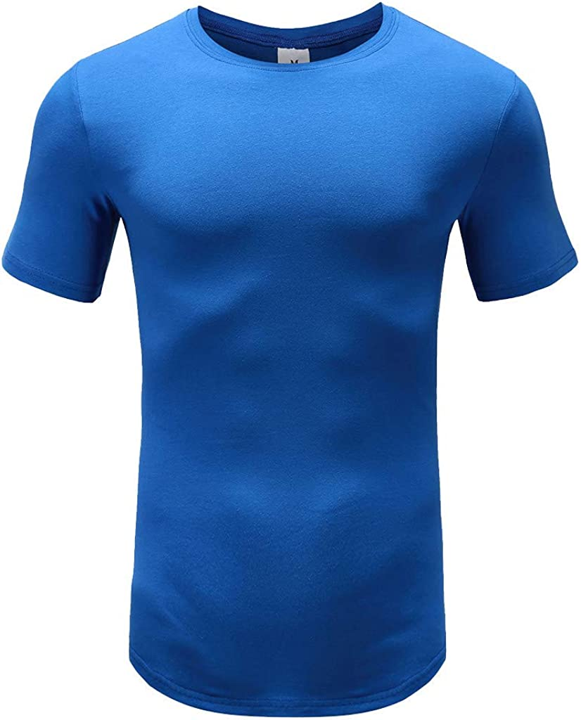Keepmove Compression Shirts for Men Personality Men's Summer Autumn Short Sleeved Muscle Plaid T Shirt Top Blouse