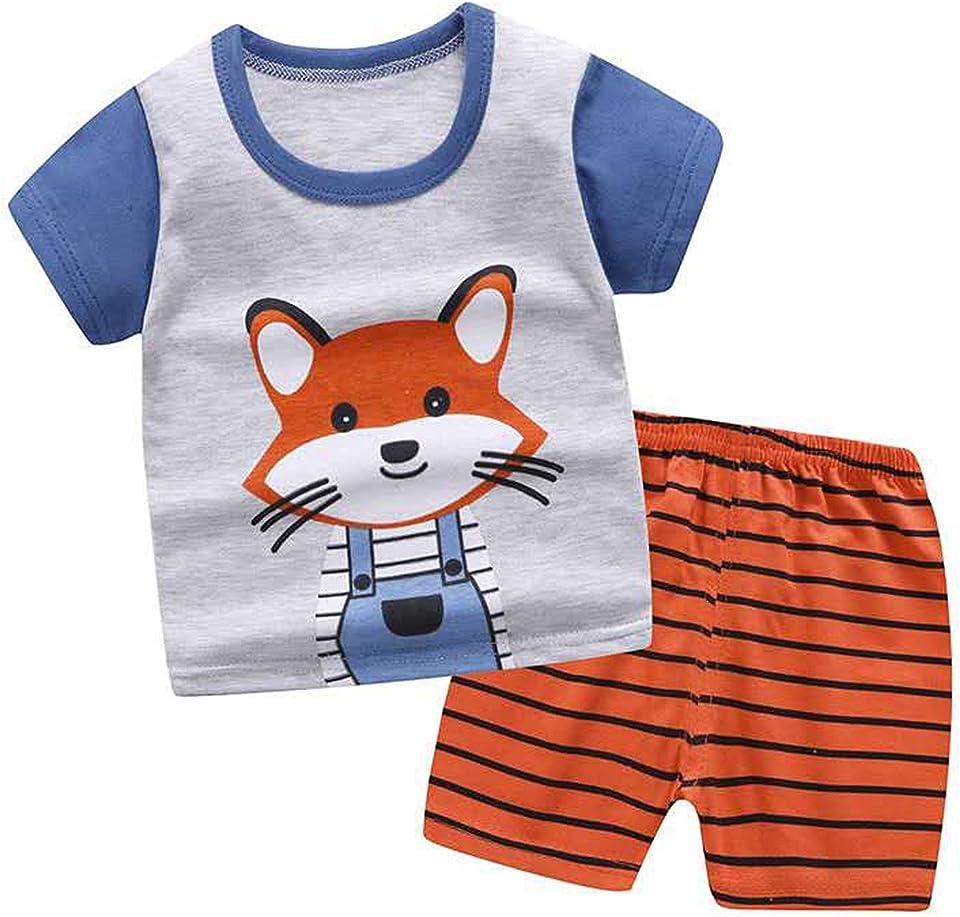 Baby Kleidung Set Baby Kleinkind Kinder Jungen Mädchen Kleidung Kurzarm Cartoon T-Shirt Tops + Shorts Sommer-Outfits 0-5 Jahre