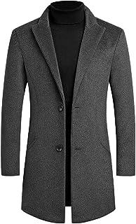 Men Winter Overcoat Coat, Male Solid Long Sleeve Fashionable Warm Snowflake Windbreaker Jacket Outwear
