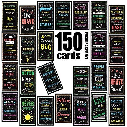 150 Stücke Motivations Zitat Karten Inspirierende Freundlichkeit Karten Ermutigung Karten für Motivations Ermutigung Bestätigung Geschenke, 2 x 3,5 Zoll