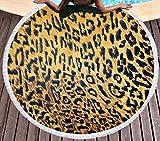 SCVBLJS Toalla De Playa Animal Print Leopardo Toalla Playa Yoga Mat Mantón Bufanda Tapiz Mantel Picnic Manta Mantón Adulto Niño Toalla