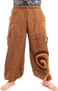 jing shop Harem Pants Boho Hippie Chic Cotton Swirl Print
