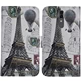 TienJueShi Eiffelturm Flip Stand Brief Leder Tasche Schütz