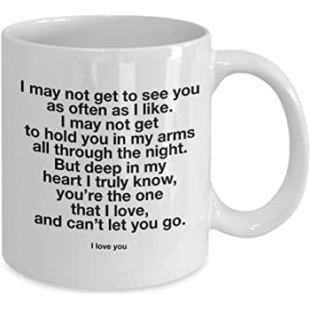 Amazon Com Long Distance Relationship Mug I Love You Mug For Him And For Her Ldr Birthday Lovers Penpal Romantic Valentines Boyfriend Girlfriend Gf Bf Gifts Idea 11 Oz Cup Kitchen
