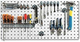 パンチングボード ガレージの壁ツールラックフックボードツールオーガナイザー壁掛けは盛り合わせフックが含まれています 工具収納棚 (Color : A, Size : 90x45cm)