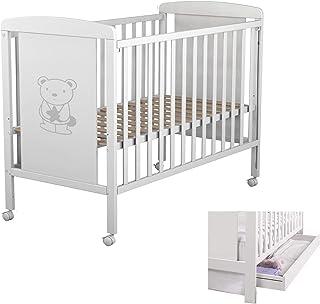 comprar comparacion Star Ibaby Dreams Sweet 102 - Cuna de bebé 8 posiciones con cajón. Lateral abatible. Color blanco.