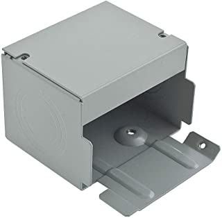 Hubbell Wiring Systems HBL3010CGY Steel Metal Raceway Entrance End Fitting with Rigid/Flexible Conduit, 3-1/4