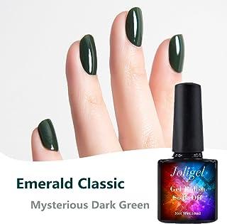Joligel Esmaltes Gel Semipermanente UV LED de Uñas 10ml Esmeralda Clásico Elegante de Invierno Pintauñas en Gel para Man...