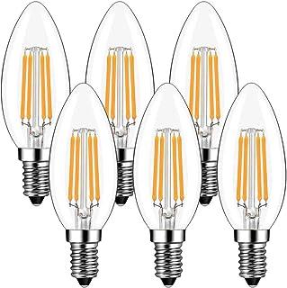 Bougie Ampoules LED E14 4W, GreeHse E14 Ampoule LED à Filament Blanc Chaud 2700K, 420Lm Equivalent à Ampoule Incandescente...