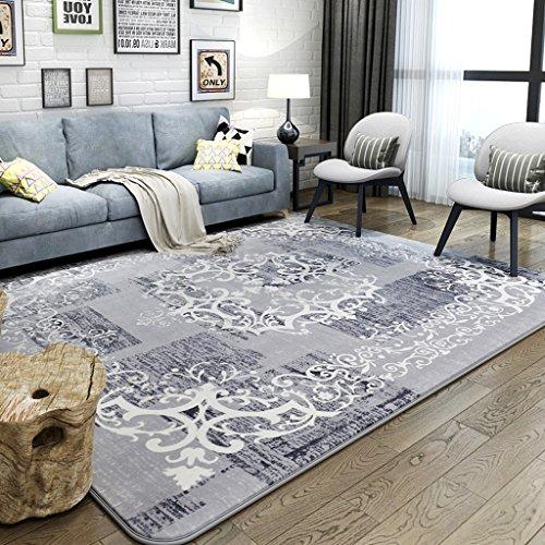 YLMD Klassieke deken, Europees en Amerikaans, motief tapijt, woonkamer, prinses, nachthemd, zacht, rechthoekig, milieuvriendelijk, voor kinderen, Crawling tapijt, 51,18 inch x 74,80 inch 80 x 150 cm grijs.