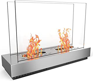 Regal Flame Stainless Steel Phoenix Ventless Free Standing Ethanol Fireplace Can Be Used as a Indoor, Outdoor, Gas Log Inserts, Vent Free, Electric, Outdoor Fireplaces & Fire Pits