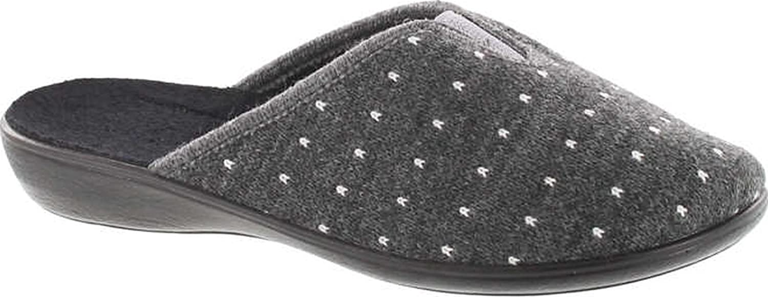 Sc Home Collection Womens 163 Closed Toe Low Wedge Printed House Slippers Made In Europe