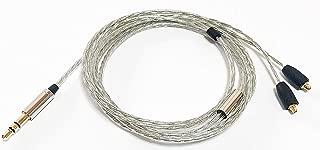 G&V Shure 5N OFC ケーブル フラット自然な音 SE215 SE425 SE535 対応 MMCX 交換イヤホンケーブル 1.2m ワイヤーなし SE-SILVER