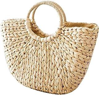 Onemoret, borsa in vimini borsetta sacchetti borse spiaggia estate paglia intrecciata in rattan retrò