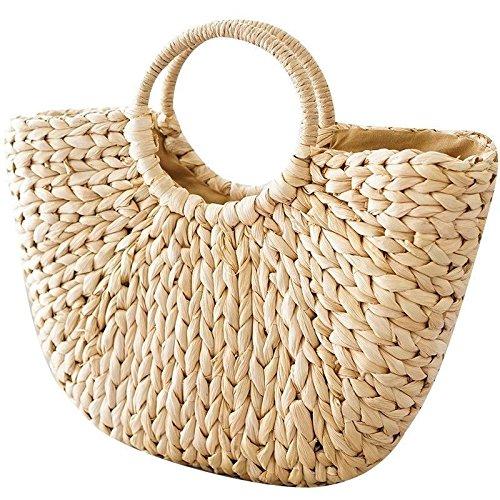 Sacs à main en osier, pour femme, cabas de plage en paille tissée, sac d été, panier en rotin, sac rétro, OneMoreT.