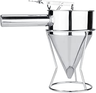Acogedor Stainless Steel Funnel,Kitchen Funnel with Rack,for Essential/Cooking Oils, Flask Metal Funnel for Transferring of Liquid, Fluid, Dry Ingredients & Powder