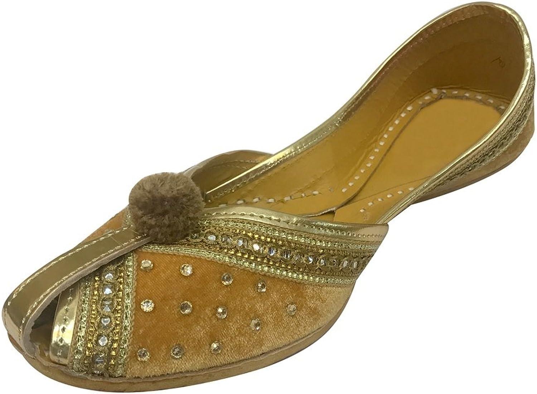 Step n Style Women Velvet & Leather Khussa shoes Punjabi Jutti Indian Handmade Flip Flop Sandals