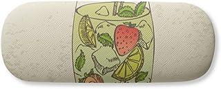 Strawberry Fruit Juice Illustration Pattern Gl Case Eyegl Hard Shell Storage Spectacle Box