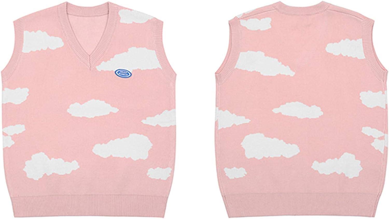 USTZFTBCL Hip Hop Jumper Sweater Vest Men Harajuku Streetwear Knitted Sweater Men Women Sleeveless