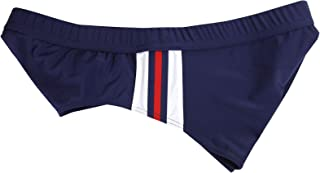 Gucci Men's WBRB Web Details Blue Nylon Elastane Swim Slip Briefs 354533 4466
