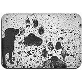 Snbin Alfombrilla Antideslizante Resistente a la decoloración de la Puerta Alfombra de Salpicadura de Perro Pintura de la Pata Alfombra de Interior de la Estera al Aire Libre 40 * 60 cm