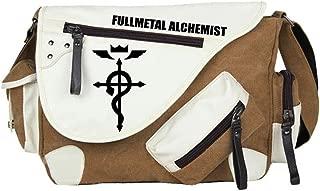Gumstyle Fullmetal Alchemist Anime Cosplay Canvas Messenger Bag Crossbody Sling Shoulder Schoolbag for Boys Girls